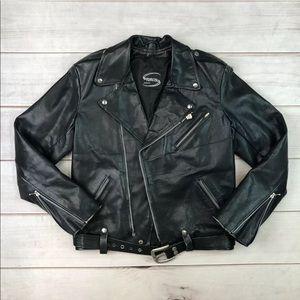 Sturgis Leather Asymmetric Zip Moro Jacket Mad Max